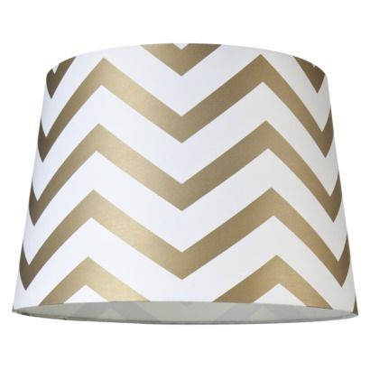 Mix-and-Match Chevron Lamp Shade in Gold (Large) ... thank you Target for affordable chic!