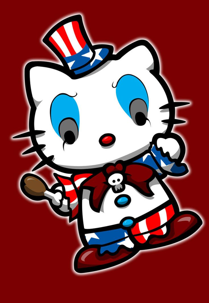 Hello Kitty in Captain Spaulding costume