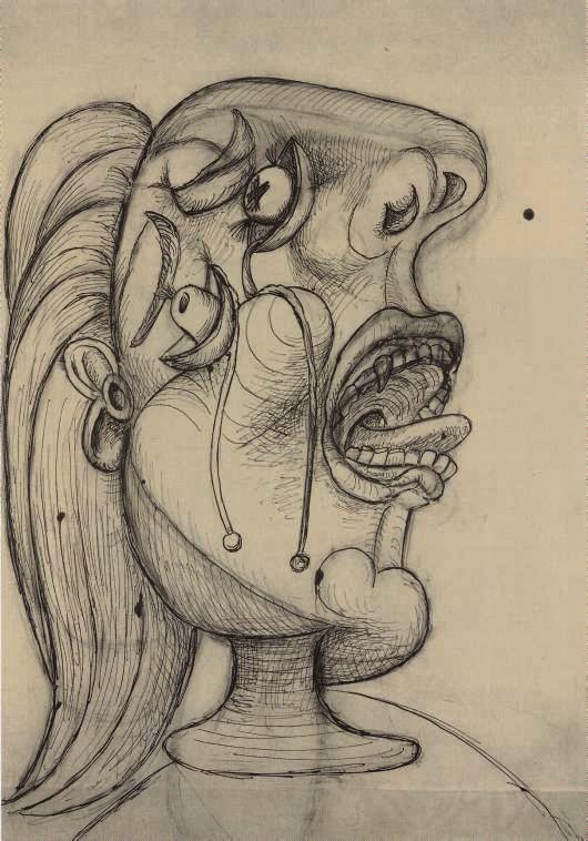 Pablo Picasso, La femme qui pleure, Paris, 12 October 1937. Museo Nacional de Arte Reina Sofía, Madrid. © 2016 Estate of Pablo Picasso / Artists Rights Society (ARS), New York.