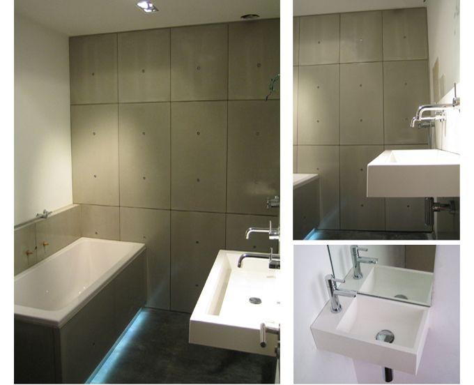 85 besten Betonnen badkamer Bilder auf Pinterest | Betonwände ...