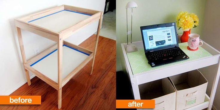 FRA STELLEBORD TIL SKRIVEBORD: Ikea-hacking er blitt et begrep i bloggverdenen og refererer til å mekke på og gjøre forandringer på Ikea møbler.