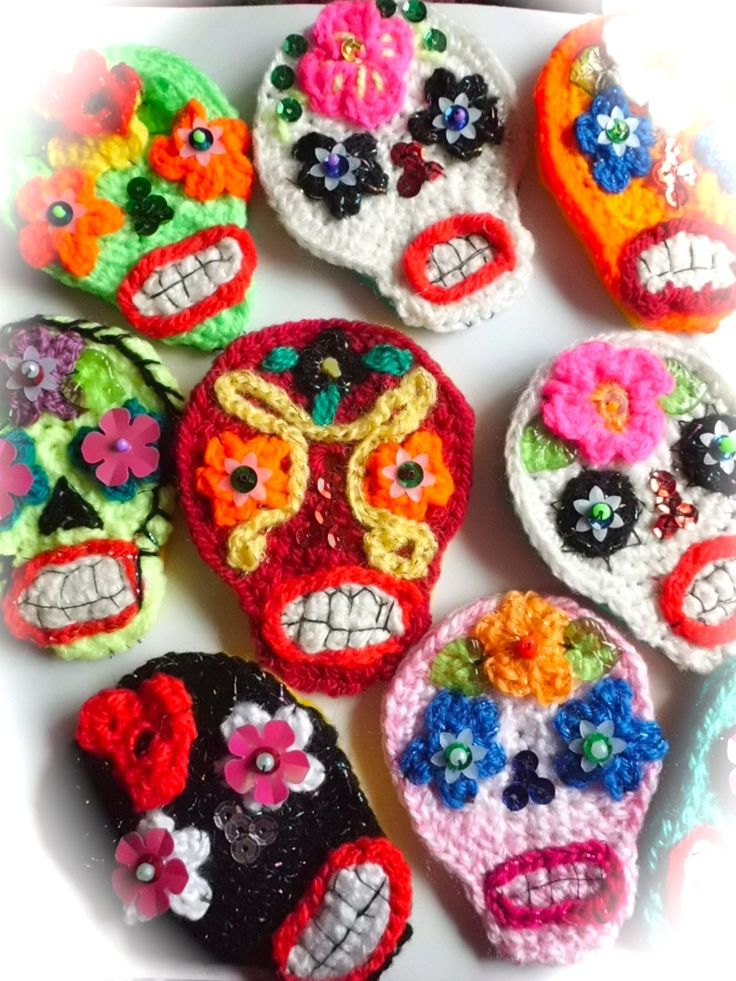 Performance Art inspires Crochet | Sugar skulls, Sugaring ...