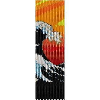 Great Wave off Kanagawa - beading cuff bracelet pattern for peyote or  loom ( Buy Any 2 Patterns - 3rd. FREE ) - pdf. $4.00, via Etsy.