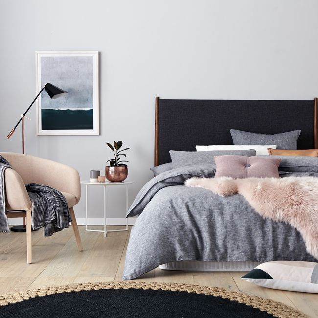 Invested in some beautiful plain bed linen like our Vintage Washed quilt cover that will last for years, and want to know how to change up the look of your bedroom using the same quilt cover? We gave our stylist Bek Sheppard the challenge of creating three separate looks with one quilt cover. Here's what she came up with, and her top 3 tips for mixing it up in the bedroom.
