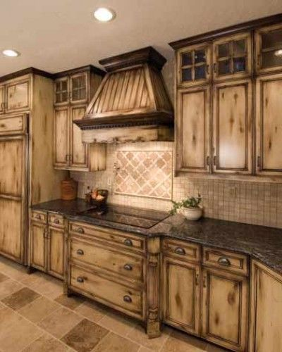 would love a kitchen like this maybe with a darker floor and back splash just old country kitchensold world - Old World Kitchen Cabinets