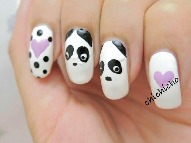 25 unique panda nail art ideas on pinterest clean nails panda creepy pandas nail art chichicho nail art addicts prinsesfo Choice Image