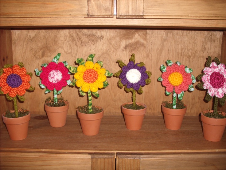 13 mejores imágenes de plantas crochet en pinterest | flores de