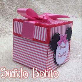 Modelo: Caja Explosiva   Fiesta Temática: Minnie Mouse   3 años   Medidas: 7cm alto * 7cm ancho * 7cm largo       Nue...