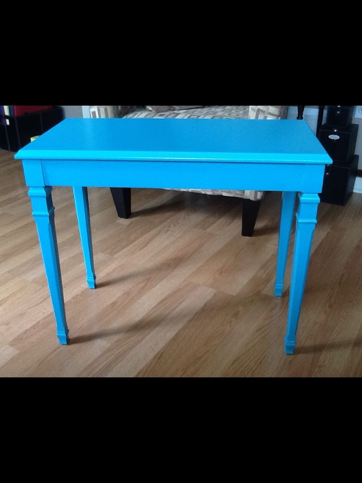 Old piano bench headed for the trash turned into fun side table!   All it needed was a little TLC (& paint!)