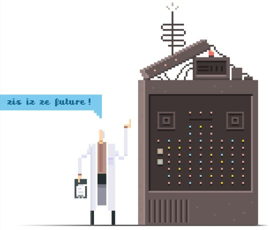Crazy Scientist.    Sci-Fi Pixel Art