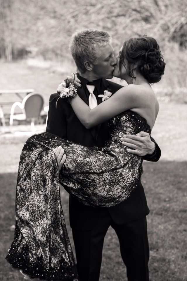 Prom picture. Cutest Picture ever...cutest couple ever. So precious.