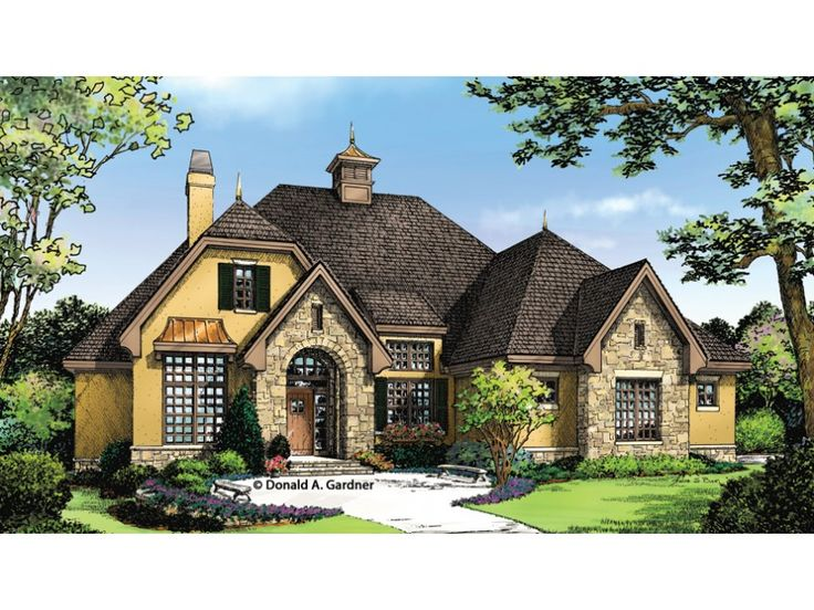 home plan homepw76901 is a gorgeous 1715 sq ft 1 story 3 bedroom country home designfrench country house