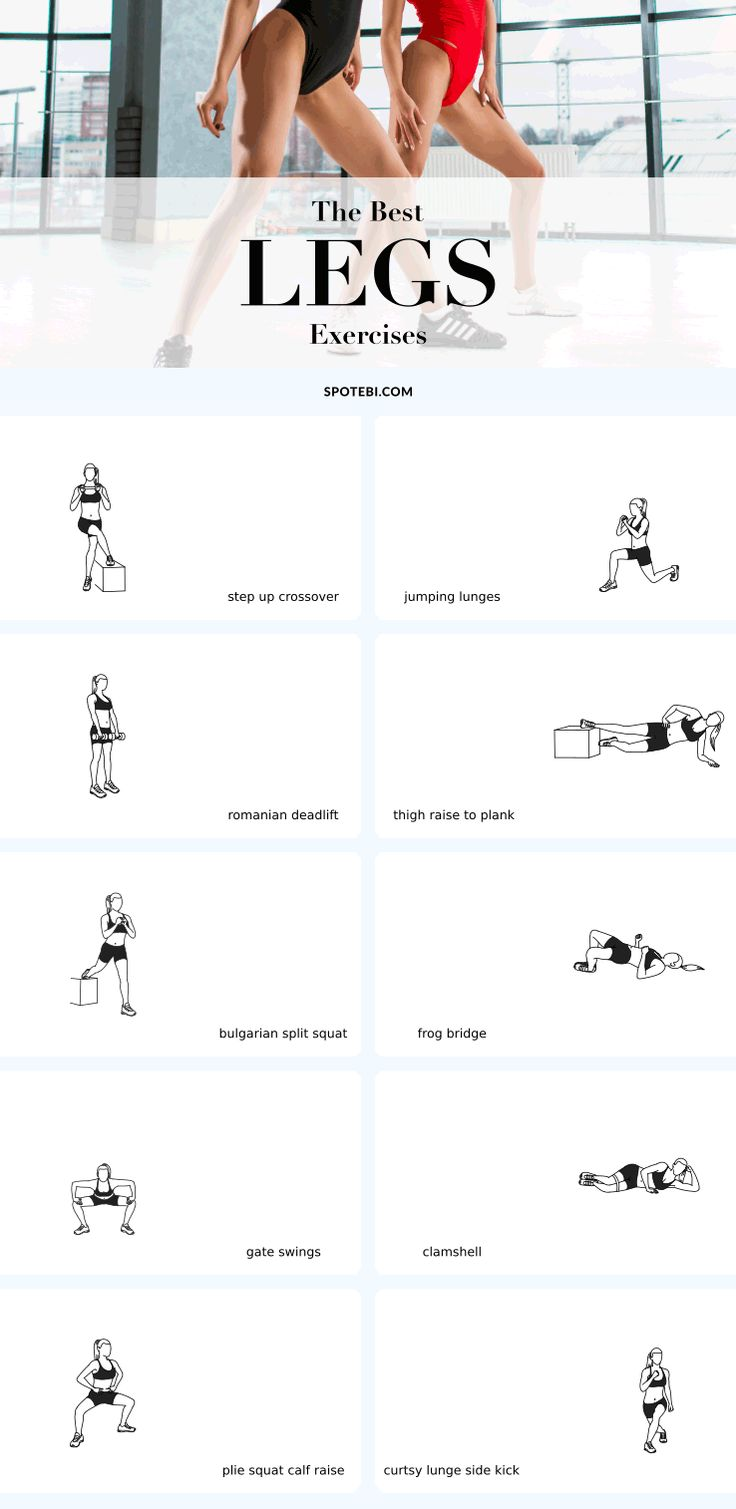 Top 10 exercises for sexy, toned and strong legs! Want short-shorts worthy legs? Then it's time to take the traditional squats and lunges to the next level. This is our selection of the best leg exercises for women to help you sculpt not only your hamstrings, quads, and calves but also your inner and outer thighs, hips and glutes. Add these multi-muscle and leg-defining moves to your routine and you will get there in no time at all…