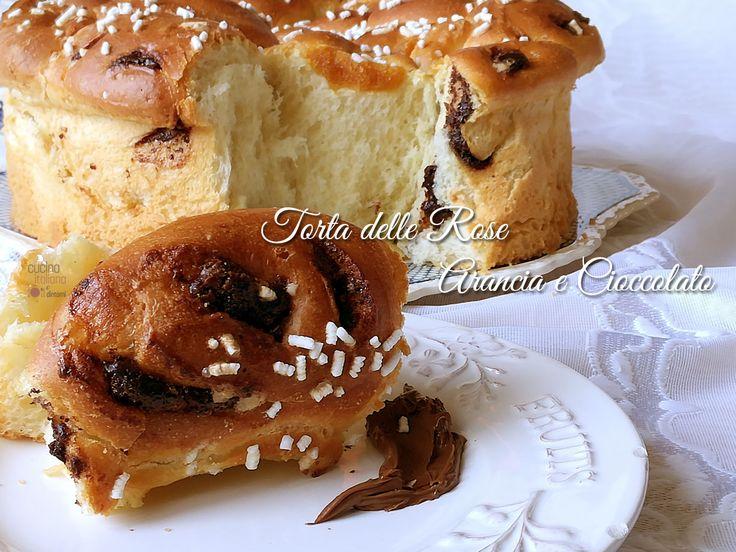 Torta+delle+Rose+non+sfogliata+cioccolato+e+arancia