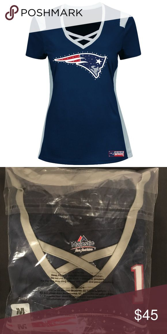 New England Patriots Draft Him Jersey Tom Brady 🏈🏈FOOTBALL SEASON IS ON!!🏈🏈 Looking for a super cute shirt for the new season! Here it is! Brand new in the polybag!! Size medium. Majestic Tops Tees - Short Sleeve