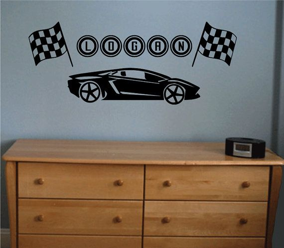 Best Older Boys Bedroom Images On Pinterest Bedroom Ideas - Lightning mcqueen custom vinyl decals for carlightning mcqueen camaro car decals unique items racing