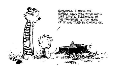 .Intelligence Life, Calvin Accessible, Life Exist, Random Things, Human Population, Funny Stuff, Comics Strips, Funny Strange