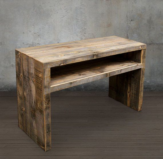 reclaimed wood media console tv stand reclaimed by atlaswoodco