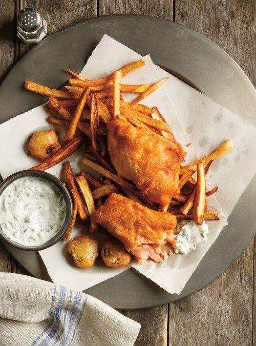 <i>Fish and chips</i> de truite