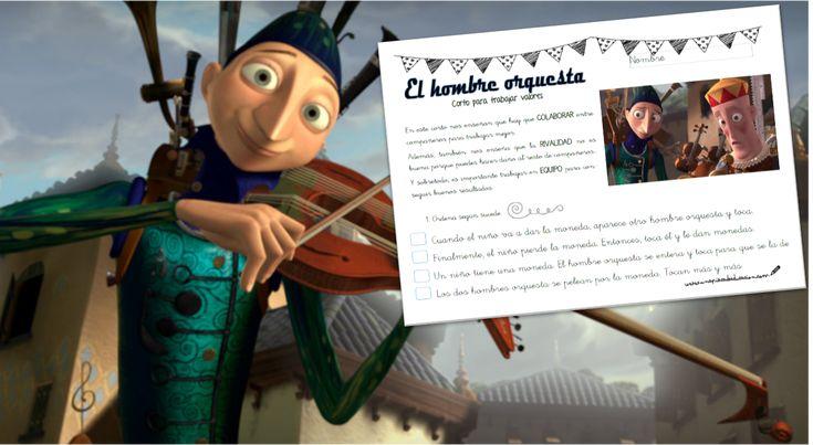 El hombre orquesta es un cortometraje de Pixar que trata diferentes VALORES. Ideal para trabajar en el aula o en casa. También incluye ficha de actividades.