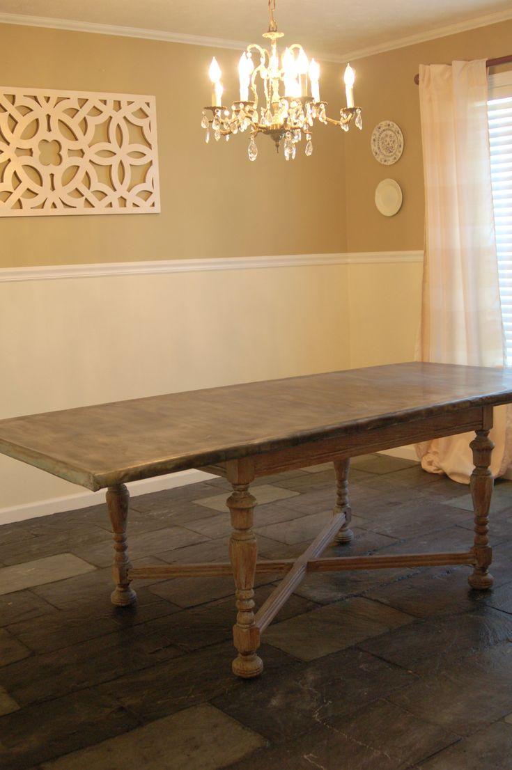 Zinc Countertop Diy : ... Zinc Table on Pinterest Zinc countertops, Metal countertops and Bar