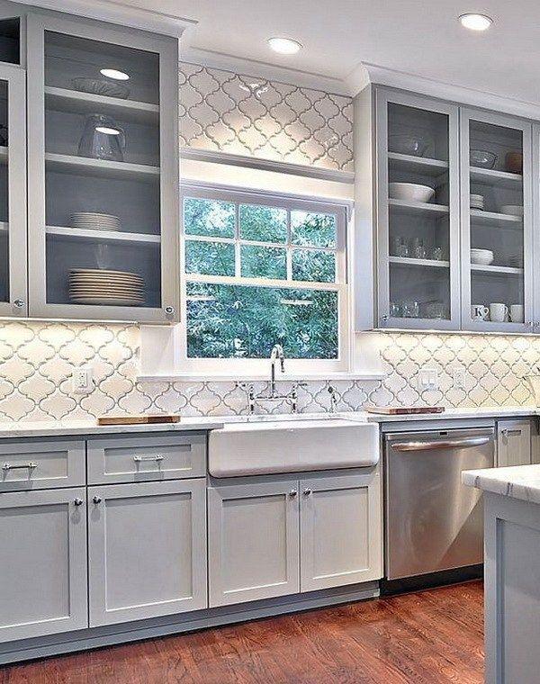 70 Stunning Kitchen Backsplash Ideas For Creative Juice Farmhouse Kitchen Backsplash Kitchen Design Farmhouse Kitchen Cabinets