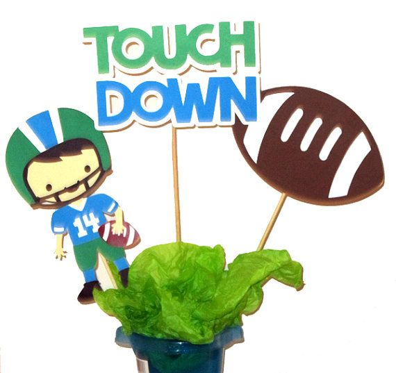 Large Football Party Centerpiece Sticks by CraftyCue on Etsy