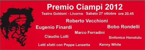 Morgan al Premio Ciampi 2012  Sabato 27 Ottobre dalle 20:45 alle 23:45    Fondazione Teatro Goldoni  Via Goldoni, 83, Livorno