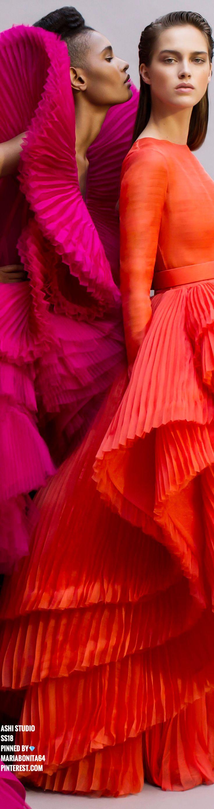 Ashi Studio SS18 Haute Couture Pink & Orange