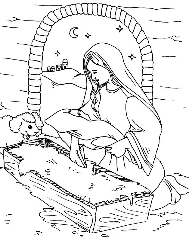 392 best pray ✝ learn advent/christmas images on pinterest ... - Baby Jesus Manger Coloring Page