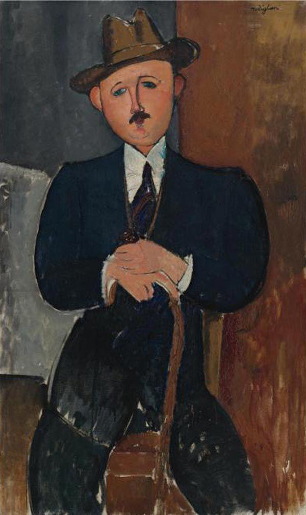 Amedeo Modigliani Portrait of a seated person. 1918