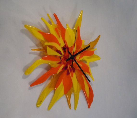 256 best Fused clocks images on Pinterest Fused glass Wall