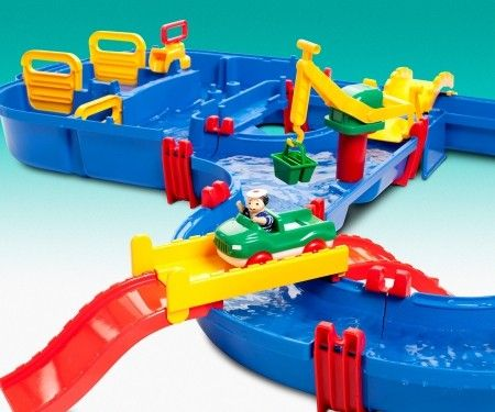 AquaPlay - Mega Bridge Water Canal | Entropy This would certainly be a great hit with the three Grand children and adults on a hot day. #EntropyWishList and #PinToWin