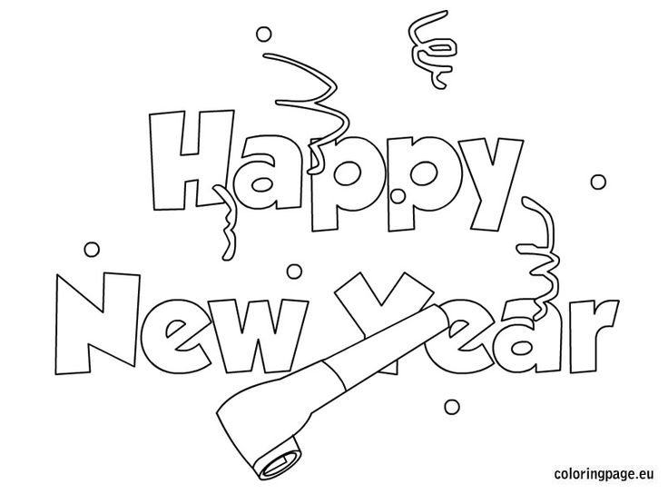 Related Coloring Pages For NumberHappy New YearHappy Year PicturesHappy 2014 TextHappy