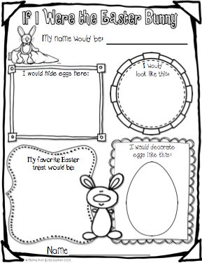 """Jungle Learners: """"If I Were the Easter Bunny"""" FREEBIE & Easter/Spring linky."""