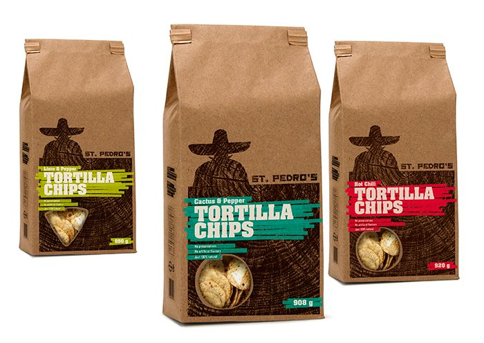 St. Pedro's Tortilla Chips  Branding, packaging design.  Student project.  markuswreland.com