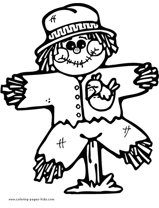 scarecrow thanksgiving color page holiday coloring pages and seasonal coloring pages coloring pages for kids thousands of free printable coloring pages