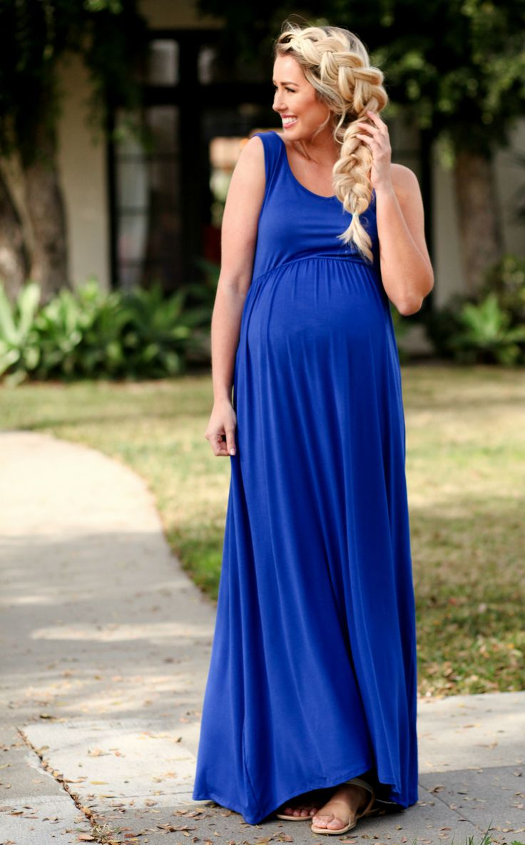 81 best images on pinterest pregnancy maternity royal blue basic maternity maxi dress ombrellifo Images