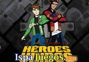Juego de Juego Heroes Unidos | JUEGOS GRATIS: Ben 10 y Generador Rex se unen para saber quien es el mejor, demostrando todo sus poderes, este gran juego tiene varias modalidades, descubrelo.