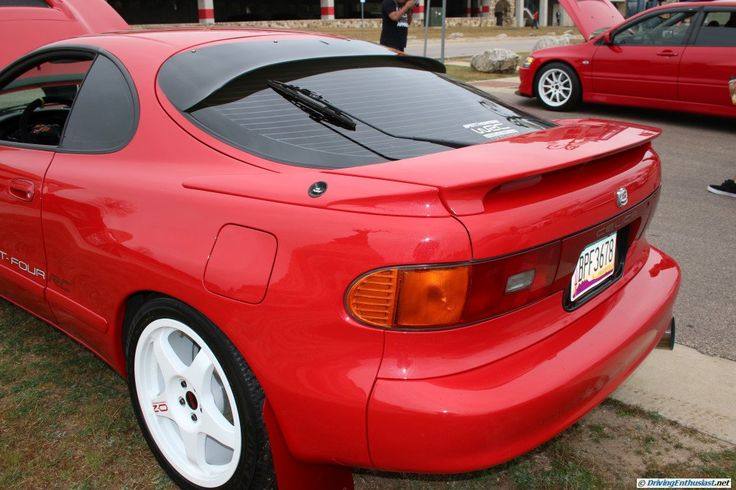 Toyota Celica GT Four - note modifications. As seen at the February 2016 Cars and Coffee show in Austin TX USA.