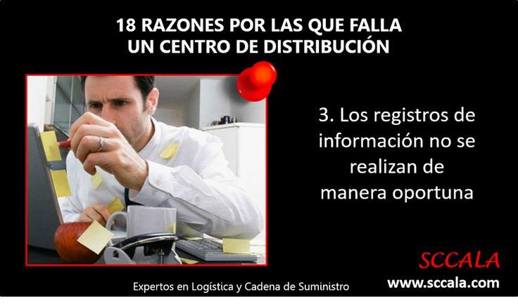 3. Los registros de información no se realizan de manera oportuna