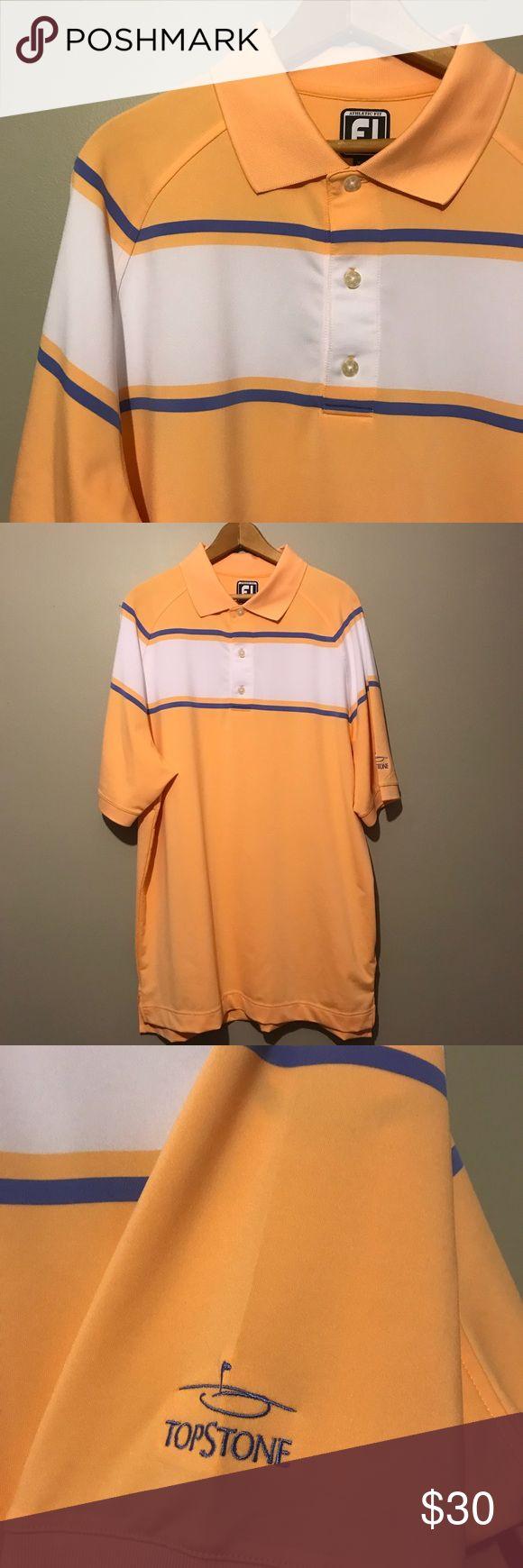 FootJoy FJ Athletic Fit TopStone Golf Polo Shirt Excellent condition!  *A18 FootJoy Shirts Polos