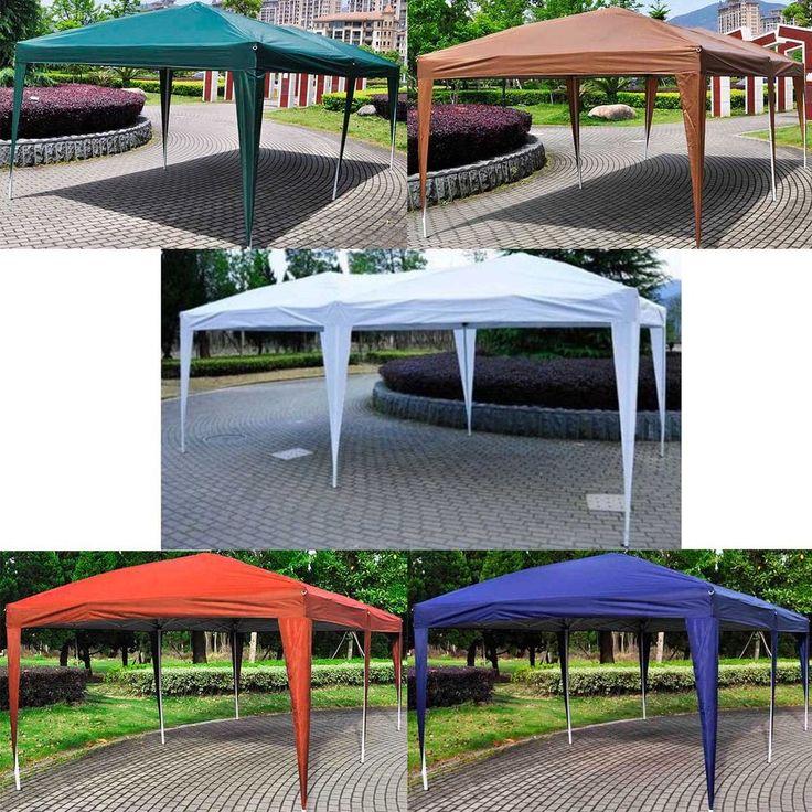 10'X20' EZ POP UP Wedding Party Tent Folding Gazebo Beach Canopy W/Carry Bag
