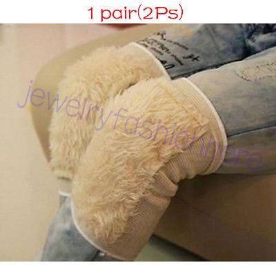 2Pcs Fashion Imitation wool Winter Warmer Thicken Wool Kneecap Knee Pad New HG