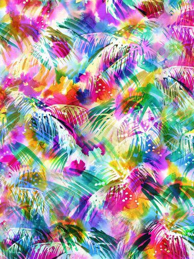Paradise Art Print by schatzibrown  #tropical #pattern #watercolor