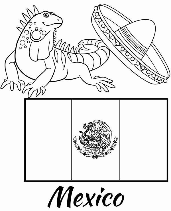 Mexican Flag Printable Coloring Page Di 2020