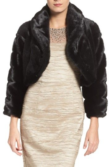 Image of Eliza J Faux Fur Bolero $80 only M left