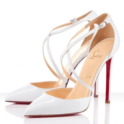 christian louboutin white bridal