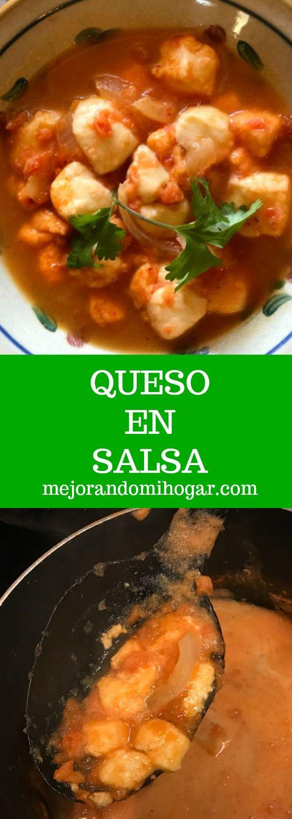 Queso en salsa ~ Receta mexicana muy facil!