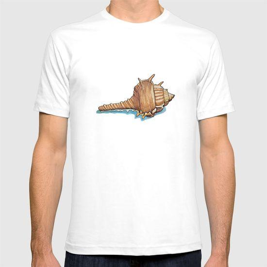 Pattern of seashells T-shirt